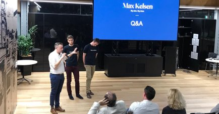 Max Kelsen AI team members presenting at the Brisbane.AI August meetup.