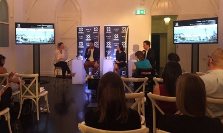 Guest panel speaking at Networx Brisbane mobile marketing event.