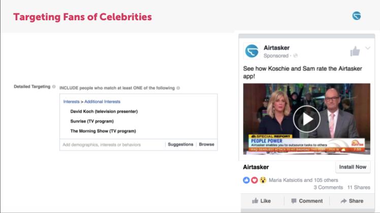 Airtasker app social media advertising growth hacking.