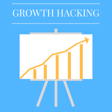 An upward bar graph on a canvas representing substantial growth through the benefit of growth hacking.
