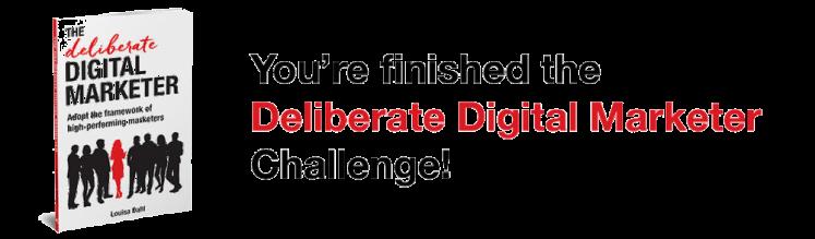 Louisa Dahl's Deliberate Digital Marketer book.