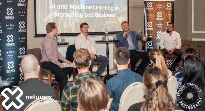 The Networx Brisbane panel talking about artificial intelligence and machine learning.