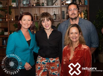 A group photo of the Networx Brisbane storytelling panel.