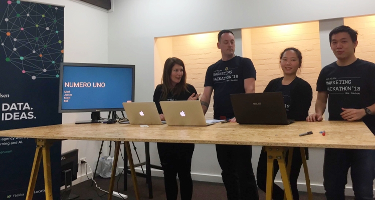 Winning team from Brisbane's data-driven Digital Marketing Hackathon