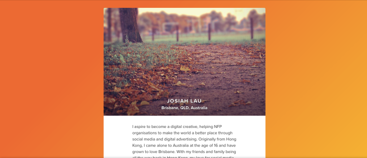 About.me blog for Digital Marketing Strategist, Josiah Lau