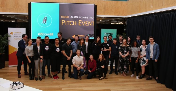 The startup finalists at the 2018 Brisbane Young Starters Competition.