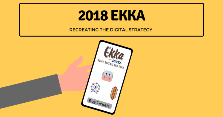 Hand holding the Ekka mobile application as the digital marketing strategy is recreated.