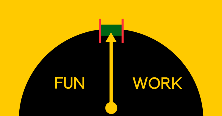 Gauge that represents the imbalance between work and life