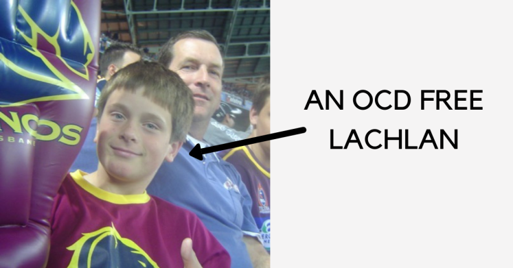 Lachlan Kirkwood as a child without OCD.