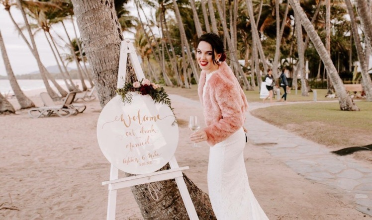 Digital brand manager, Ashton Tuckerman at her wedding in Brisbane.