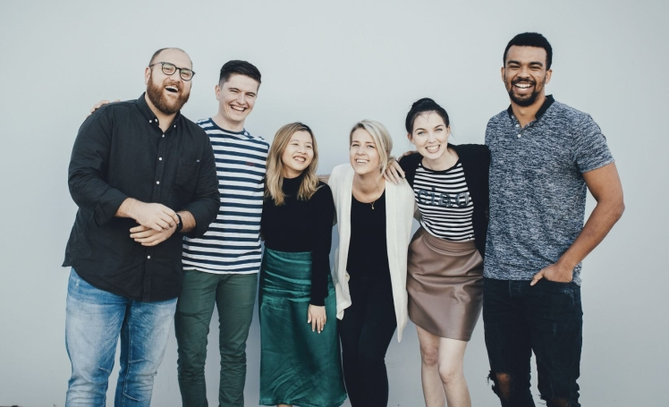 A photo of the YouFoodz Brisbane-based digital marketing team.