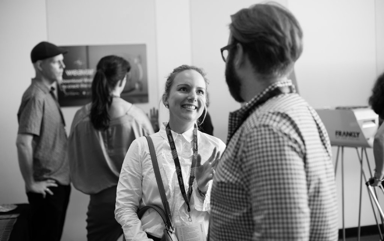 Digital Marketing Specialist, Julia Mackerras networking in Brisbane.