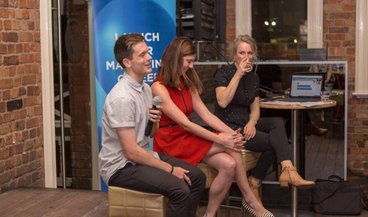 Digital Marketing Specialist, Lachlan Kirkwood, presenting at the Launch Your Marketing Career Brisbane meet up.