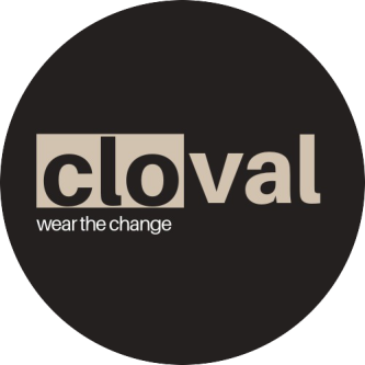 Logo for Cloval, a marketplace for socially conscious clothing.