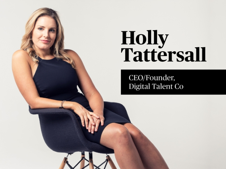 Founder of Digital Talent Co, Holly Tattersall.