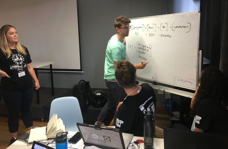 Strategy planning at the 2019 Brisbane Startup Weekend.