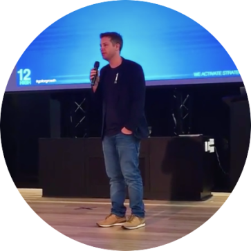 12HIGH Digital Founder, Nathan Bush, presenting at River City Labs in Brisbane.