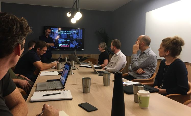 Startup Onramp Brisbane cohort meeting at WeWork.