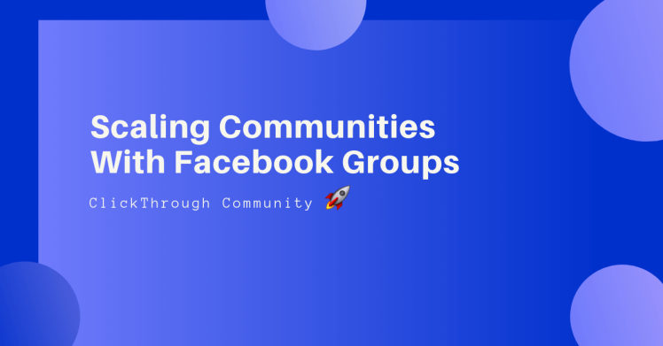 Lachlan Kirkwood digital strategy for scaling Facebook group communities.