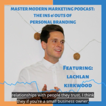 Master Modern Marketing podcast featuring Lachlan Kirkwood.